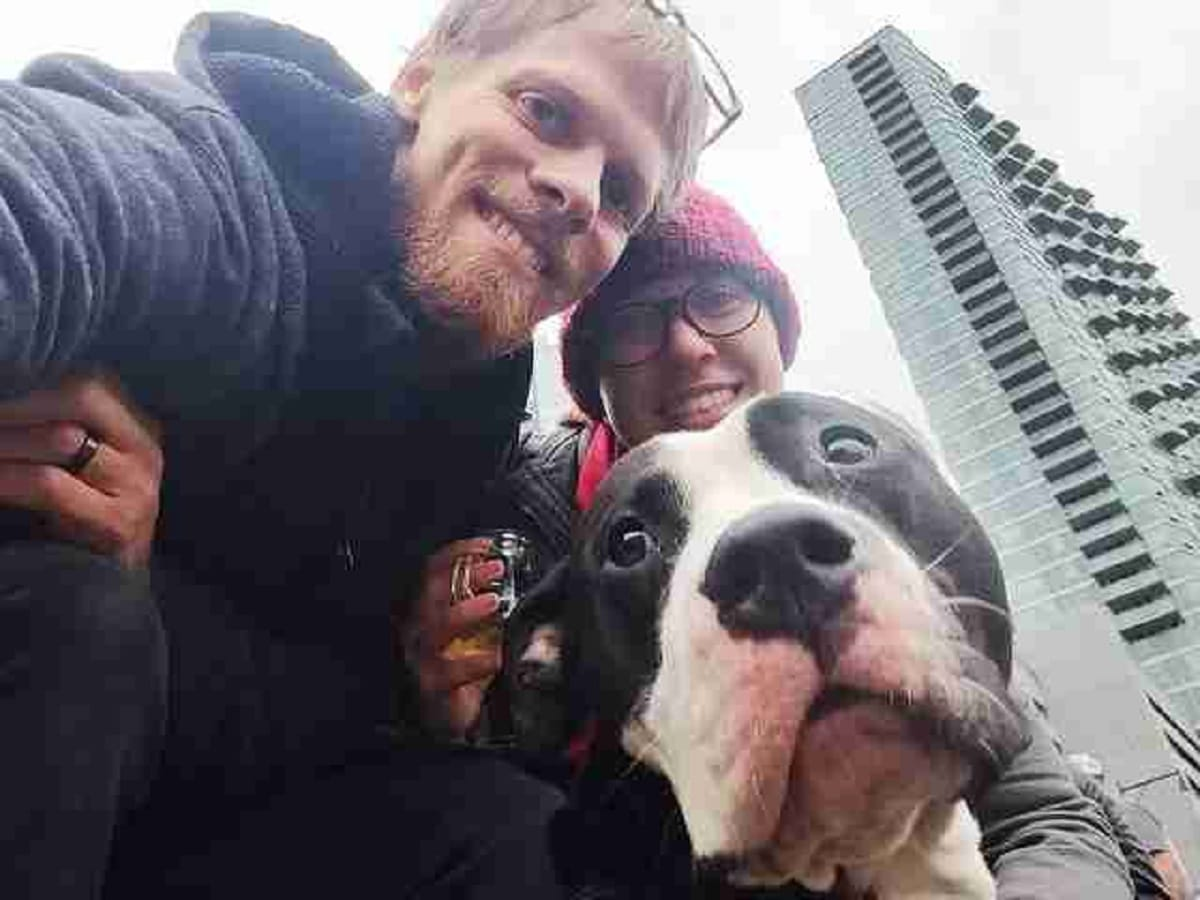 """On top of that, the Kagui spouses had fallen deeply in love that they've decided on officially adopting him. """"Smiley already feels like a part of our family. It doesn't take long for a foster dog to make their way into your heart. Our home would already feel empty without him here."""""""